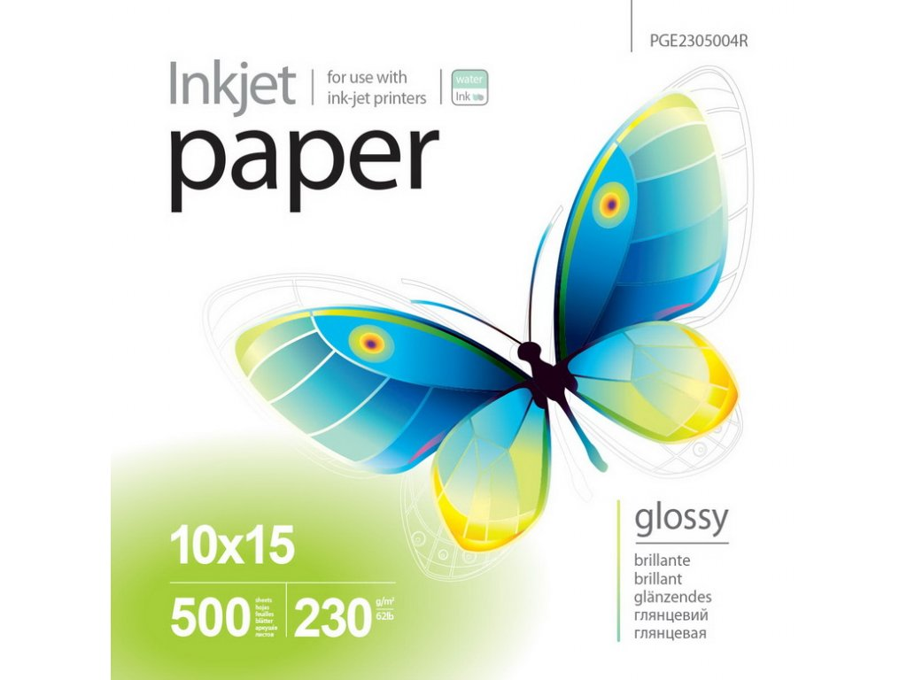 Fotopapier PrintPro Vysoko lesklý 230g/m²,500ks,10x15