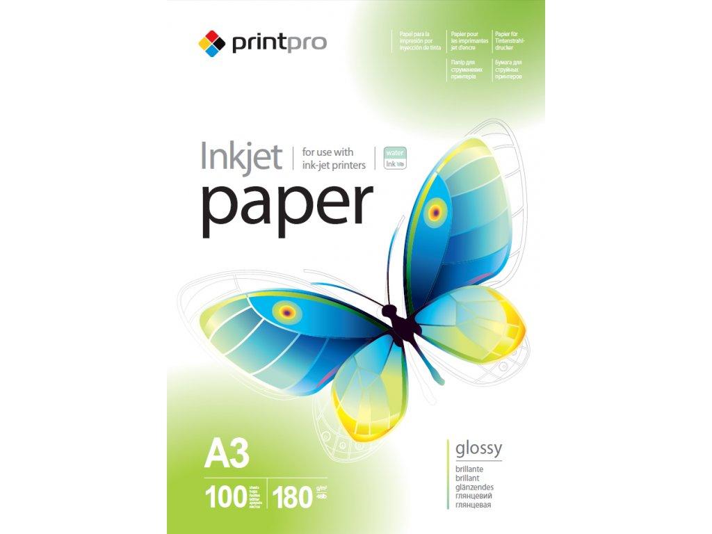 Fotopapier PrintPro Vysoko lesklý 180g/m²,100ks,A3