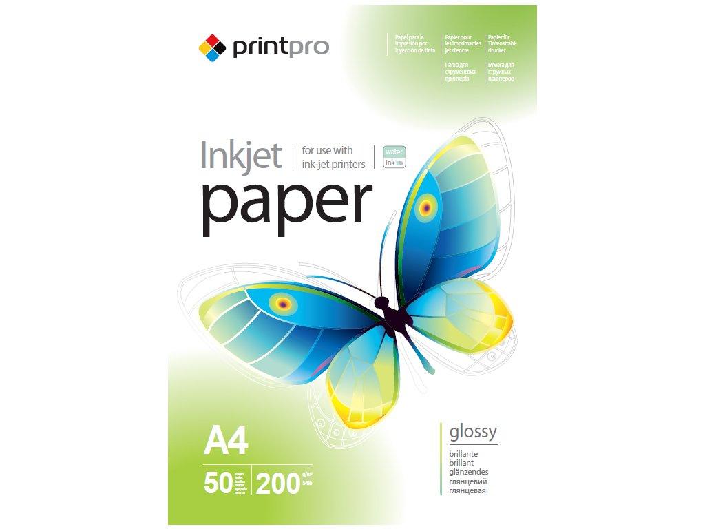 Fotopapier PrintPro Vysoko lesklý 200g/m²,50ks,A4