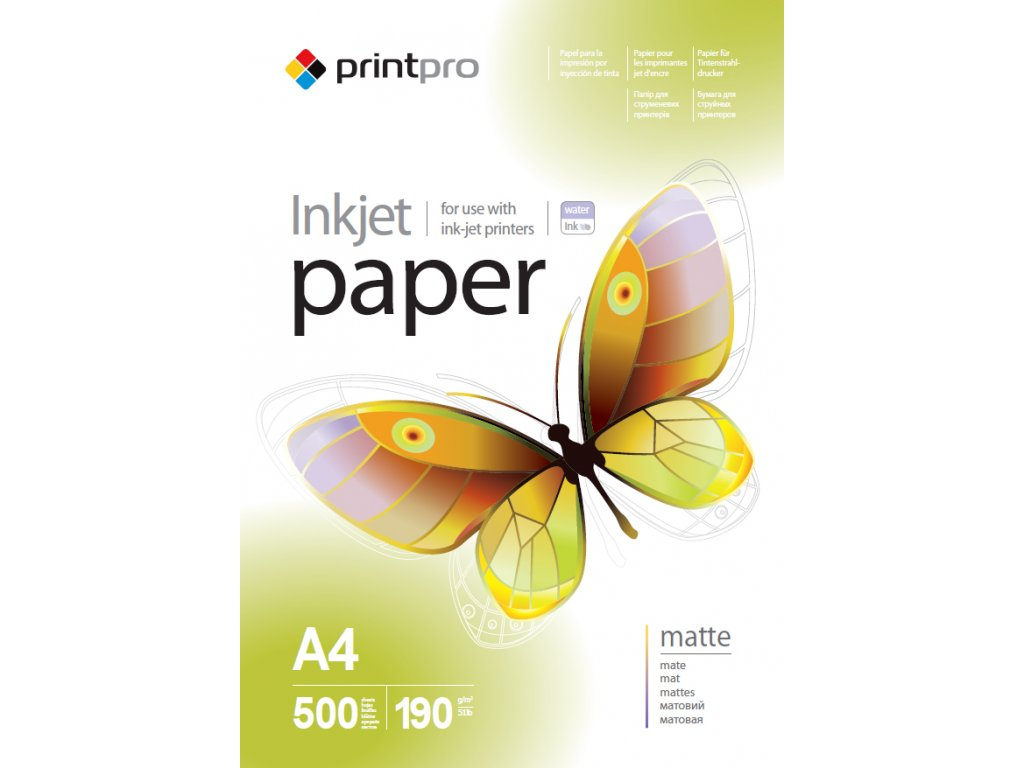 Fotopapier PrintPro matný 190g/m²,500ks,A4