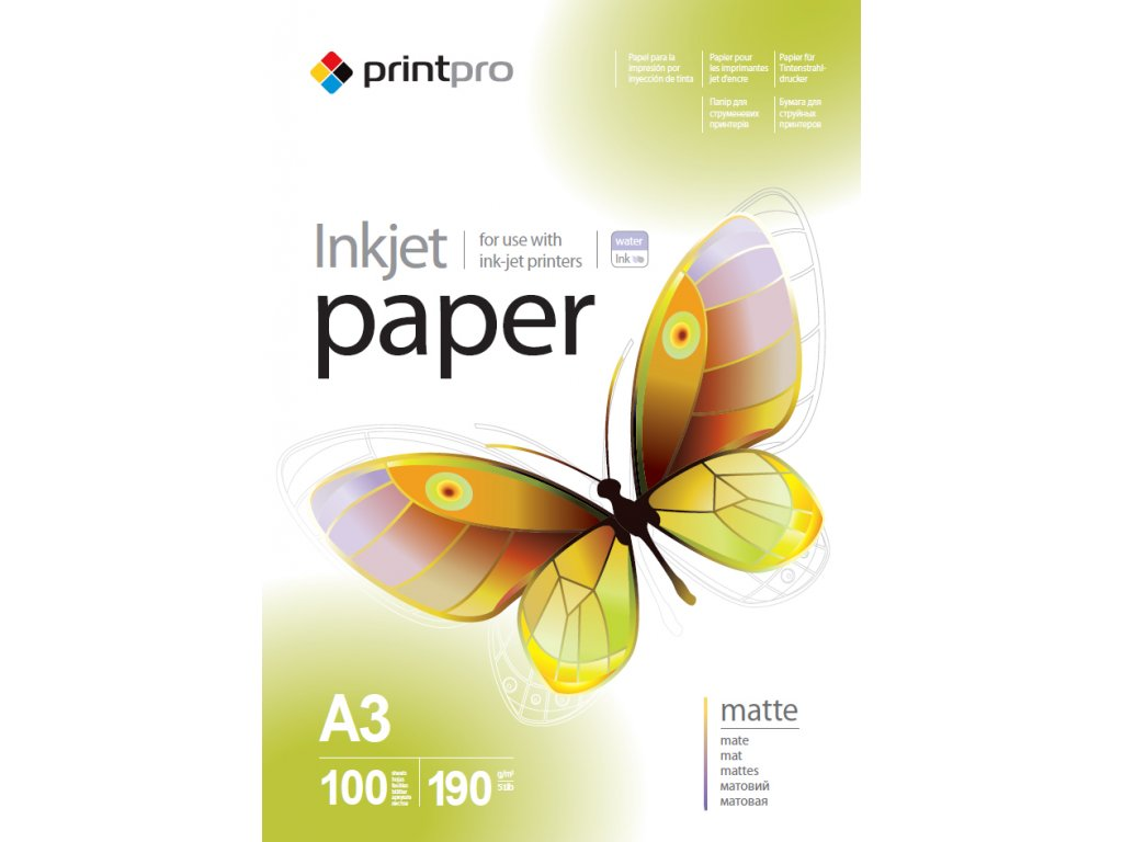 Fotopapier PrintPro matný 190g/m²,100ks,A3