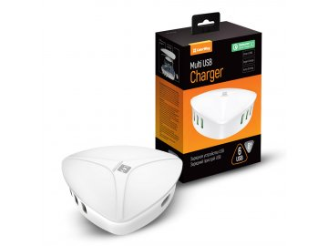 AC nabíjačka CW 6xUSB 8A biela Quick Charge 3