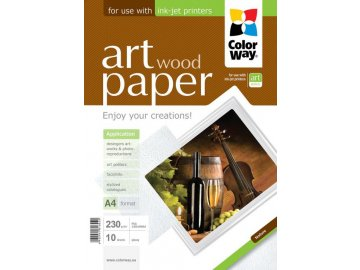 """Fotopapier CW ART Lesklý """"Wood"""" 230g/m²,10ks,A4"""
