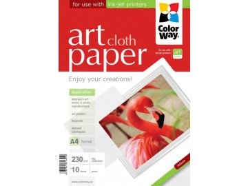 "Fotopapier CW ART Lesklý ""Cloth"" 230g/m²,10ks,A4"
