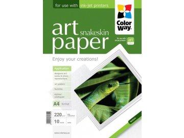"""Fotopapier CW ART Matný """"Snakeskin"""" 220g/m²,10ks,A4"""