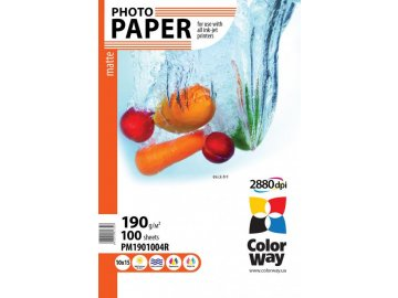 Fotopapier CW Matný 190g/m²,100ks,10×15