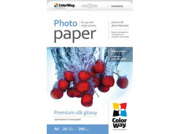 Fotopapier CW Super lesklý hodváb 260g/m²,20ks,A4