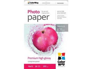 Fotopapier CW Super lesklý mikroporézny 255g/m²,20ks,10x15