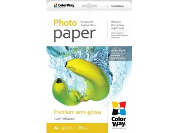 Fotopapier CW Super pololesklý mikroporézny 255g/m²,20ks,A4