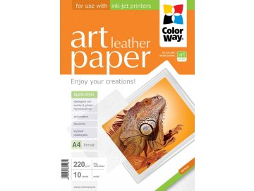 "Fotopapier CW ART Matný ""Leather"" 220g/m²,10ks,A4"