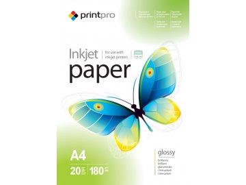 Fotopapier PrintPro Vysoko lesklý 180g/m²,20ks,A4