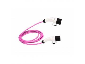 ZENCAR EVSE nabíjací kábel pre elektrické vozidlá TYP 2 - TYP 2 16A 3,6 kW magenta 6m, prepravná taška zadarmo, 16 A
