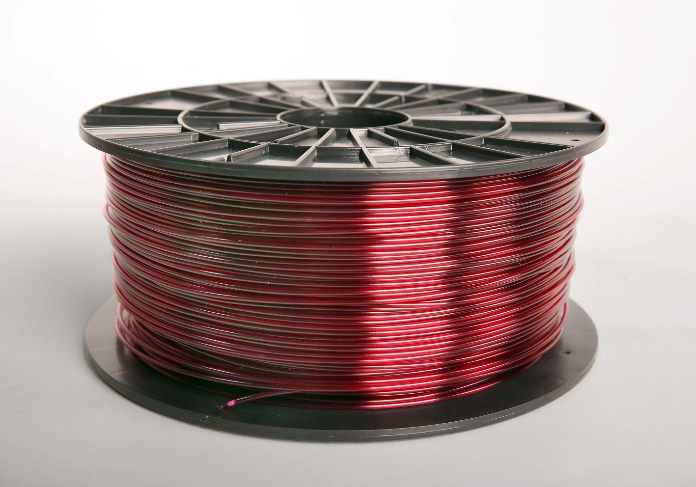 Filament-PM Tlačová struna ABS-T, 1.75mm, 1kg - rôzne farby Farba: Transparentná červená