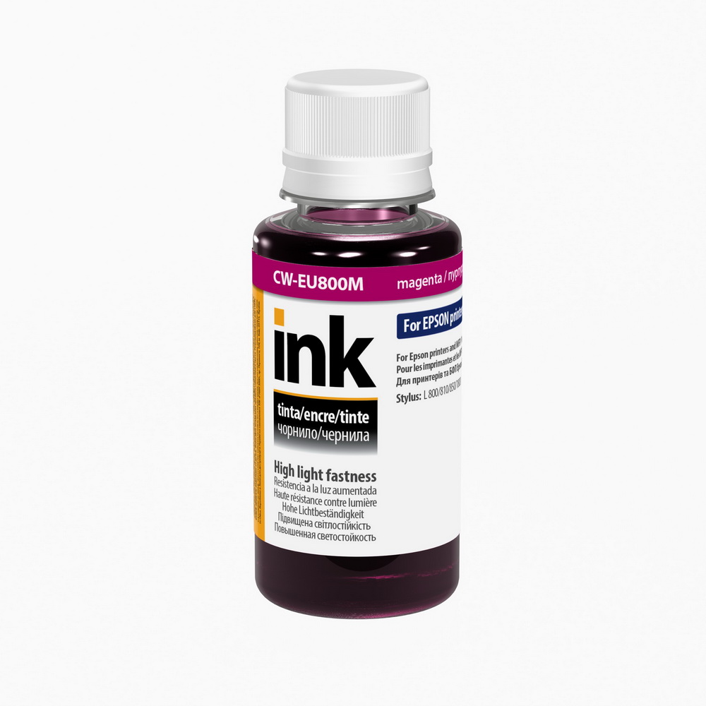ColorWay Atrament Epson UV odolný 100ml - magenta  (pre 6-farebné tlačiarne)