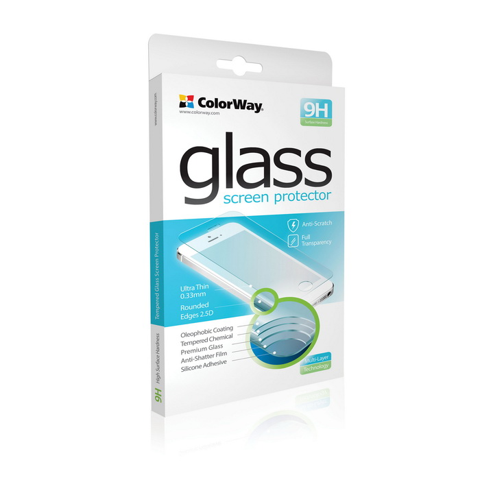 Tvrdené sklo 9H ColorWay CW-GSREHY6II pre Huawei Y6, 0.33mm