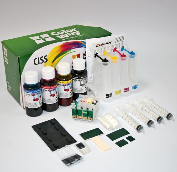 ColorWay CISS CW pre Epson WF2750 (T1631-T1634) + atrament Variant ciss:: prázdne zásobníky