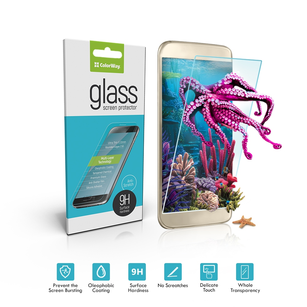 Tvrdené sklo 9H ColorWay CW-GSRESA320 pre Samsung Galaxy A3 (2017), 0.33mm