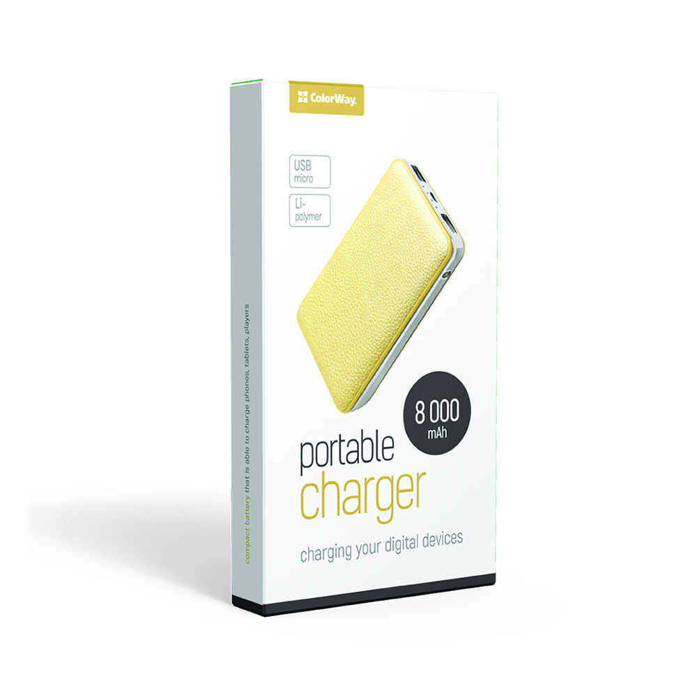 PowerBank ColorWay 8000 mAh Gold (CW-PB080LPA2GD)