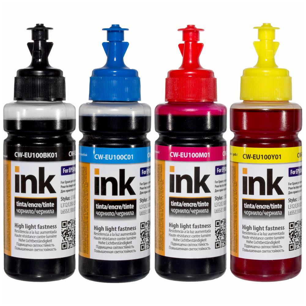 ColorWay Atrament EPSON 4x100ml pre tlačiarne L-série - UV odolné
