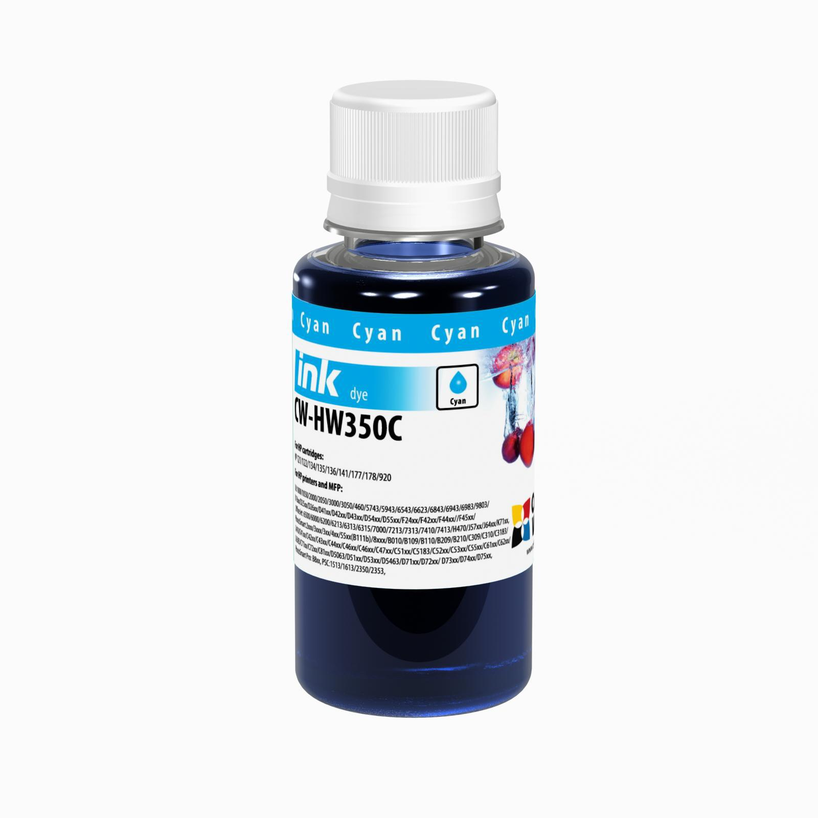 ColorWay Atrament HP Cyan - 100ml/200ml Objem fľaše: 100ml