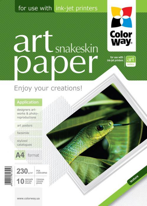 "ColorWay Fotopapier CW ART Lesklý ""Snakeskin"" 230g/m²,10ks,A4"