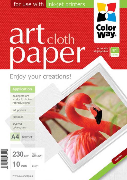 "ColorWay Fotopapier CW ART Lesklý ""Cloth"" 230g/m²,10ks,A4"