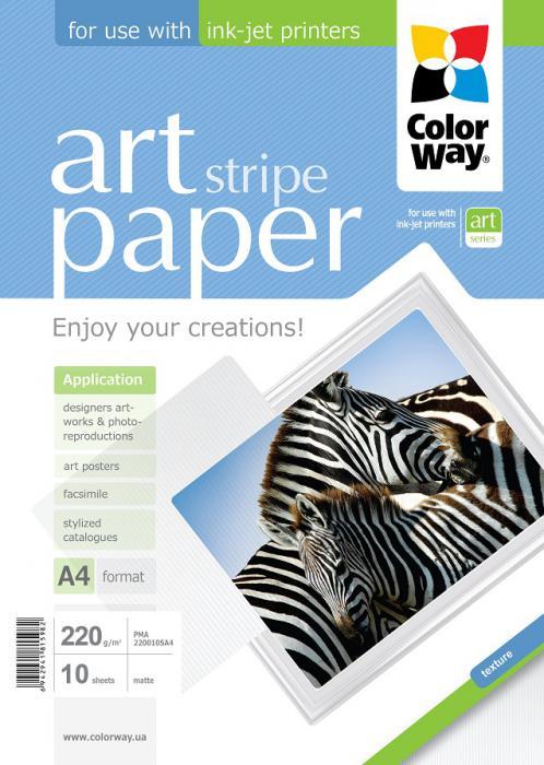 "ColorWay Fotopapier CW ART Matný ""Stripe"" 220g/m²,10ks,A4"
