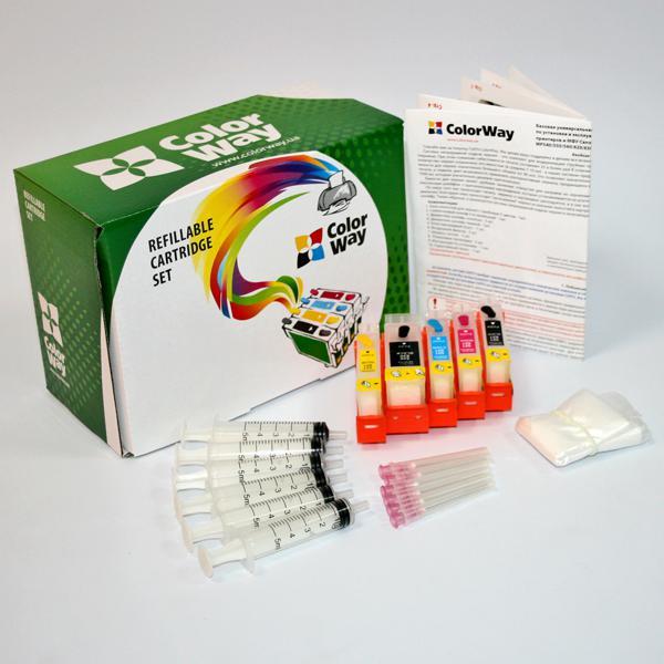 ColorWay Plniteľné kazety CW Canon IP3600/MP540 bez atramentov