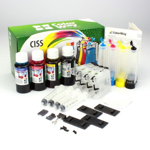 ColorWay CISS CW pre Brother LC123/127 + atrament Variant ciss:: prázdne zásobníky