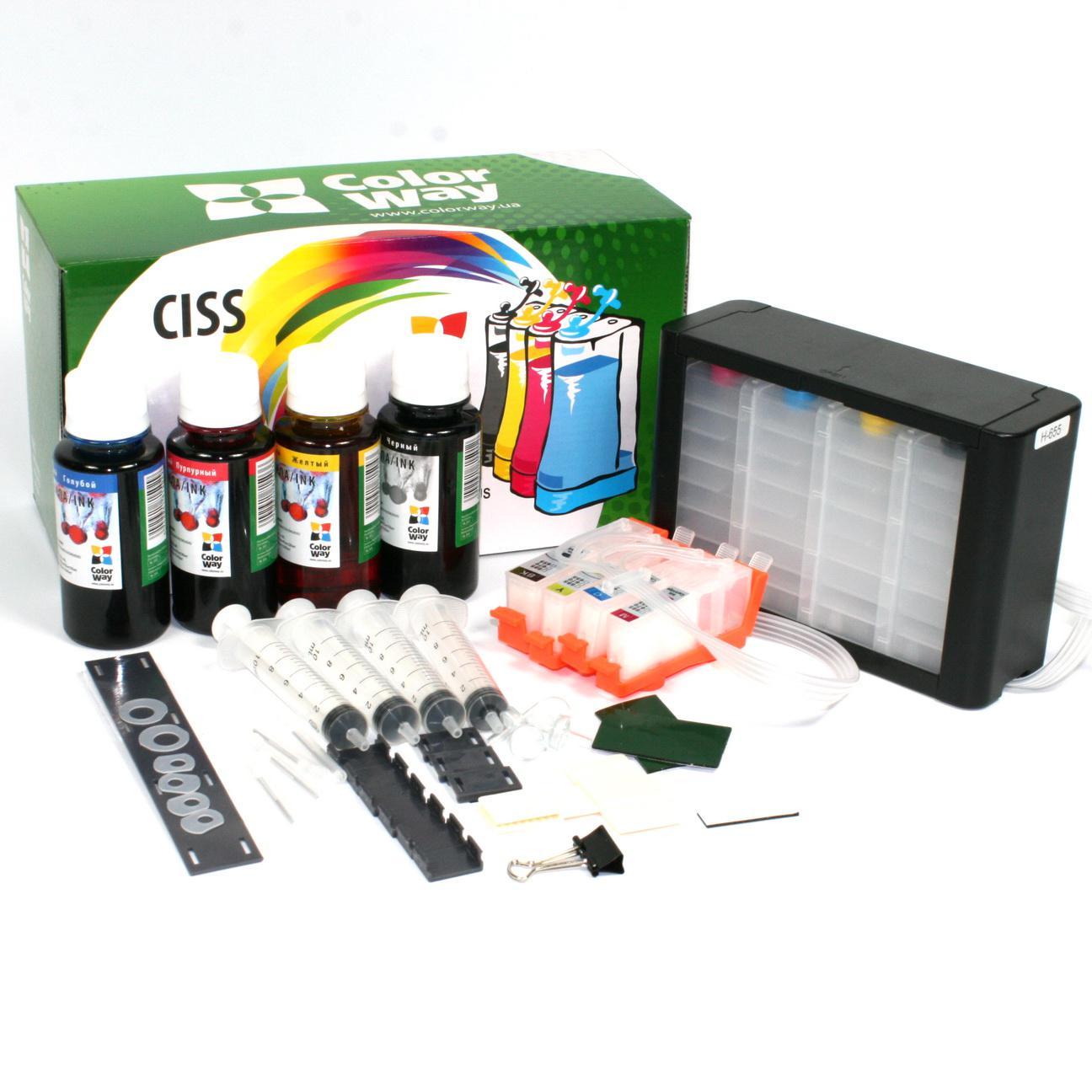 ColorWay CISS CW pre HP 364 s čipmi + atrament Variant ciss:: prázdne zásobníky