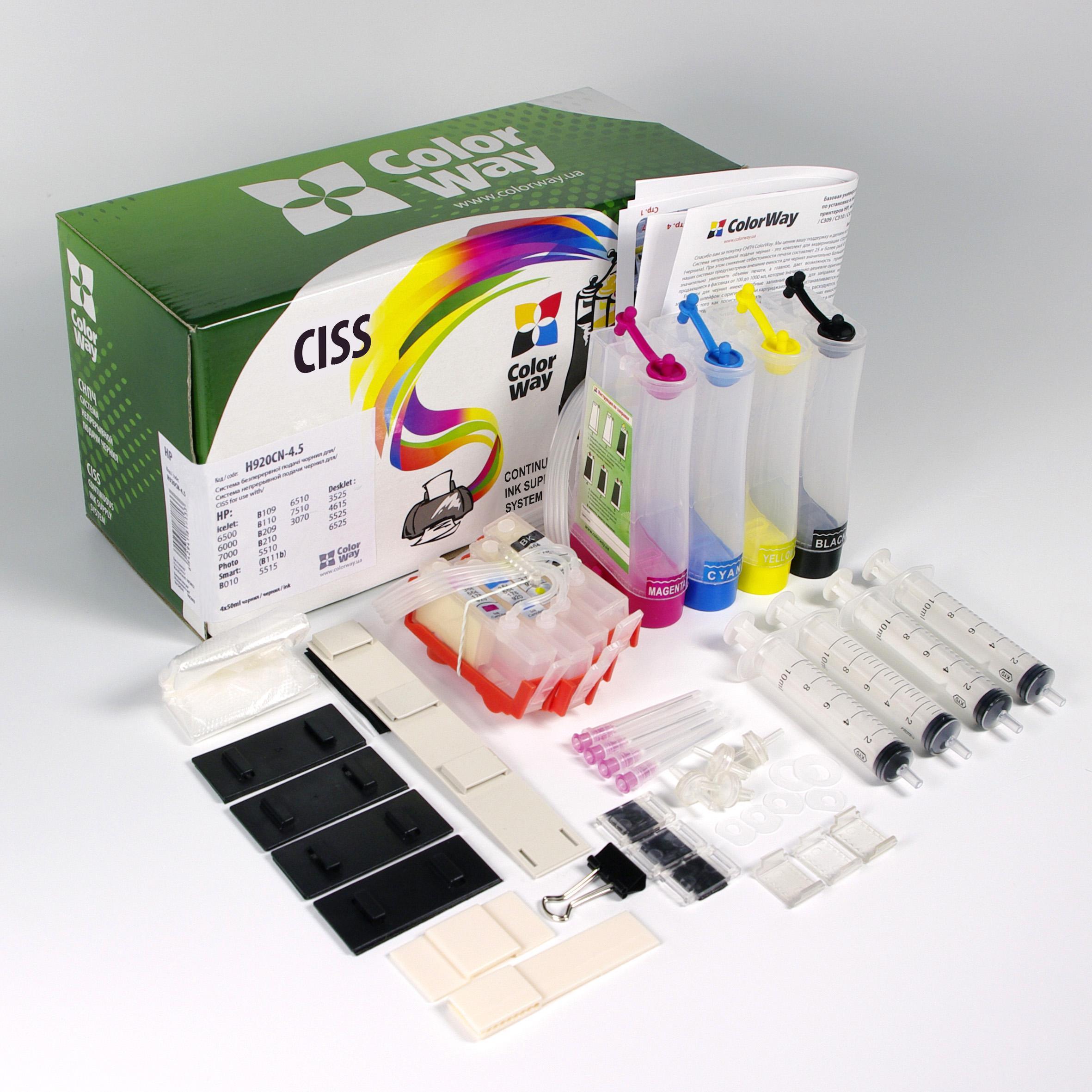 ColorWay CISS CW pre HP 920 s čipmi / bez atramentu
