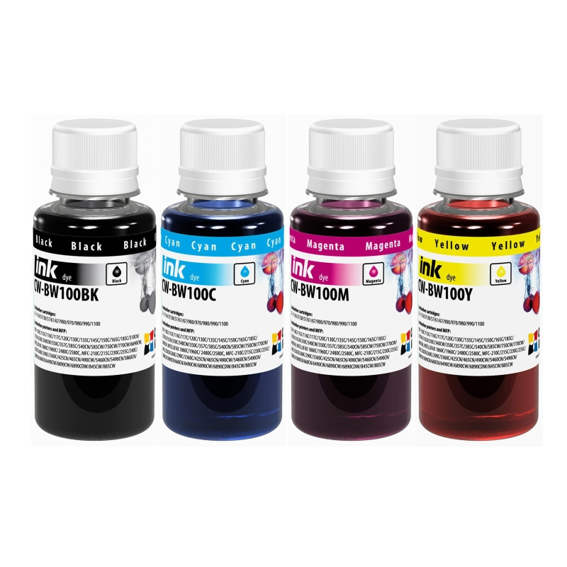 ColorWay Atrament BROTHER multipack 4x100ml - dyebased