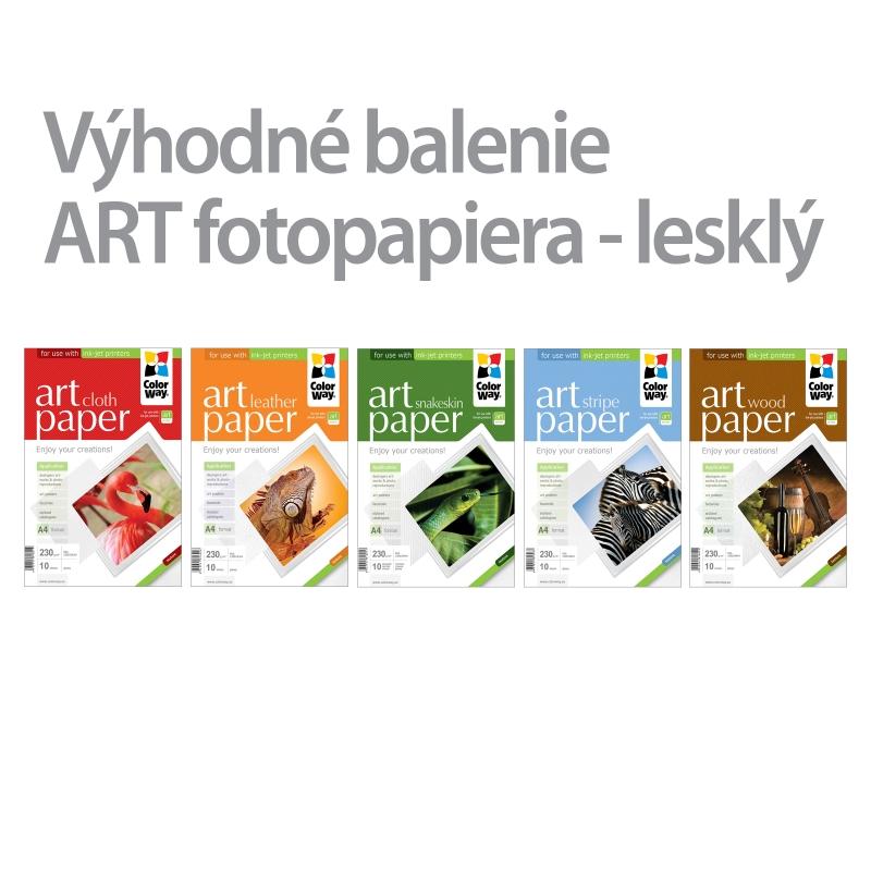 ColorWay Fotopapier CW ART 230g/m²,lesklý,10ks,A4 - 5pack