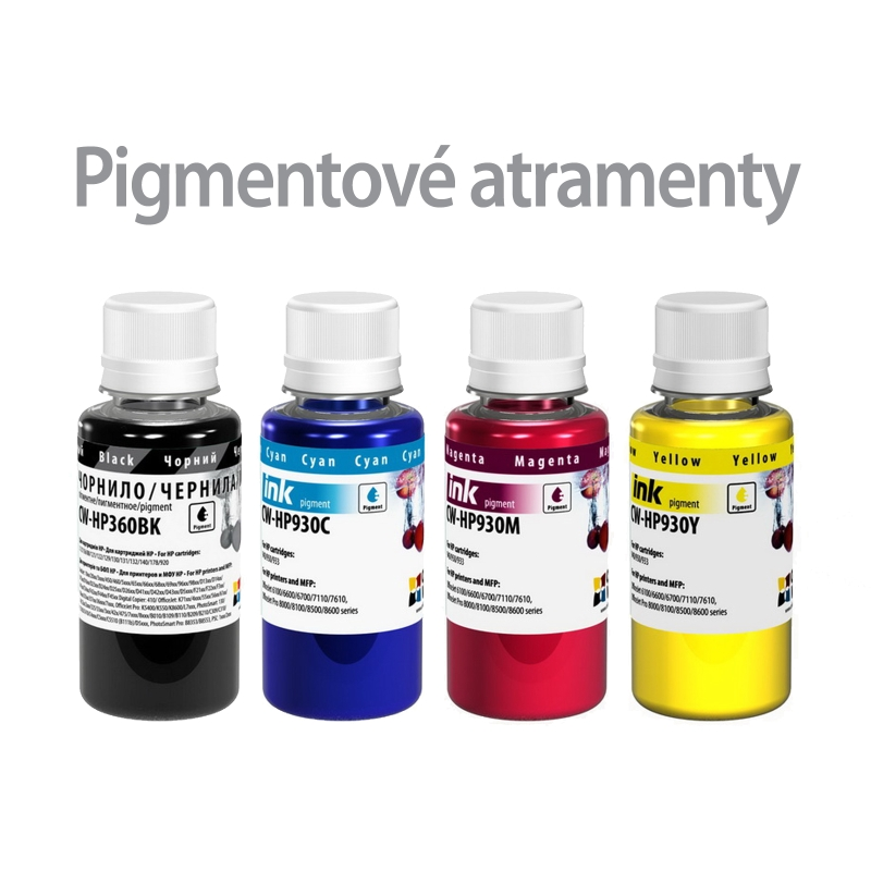 ColorWay Atrament HP multipack 4x100ml - pigment