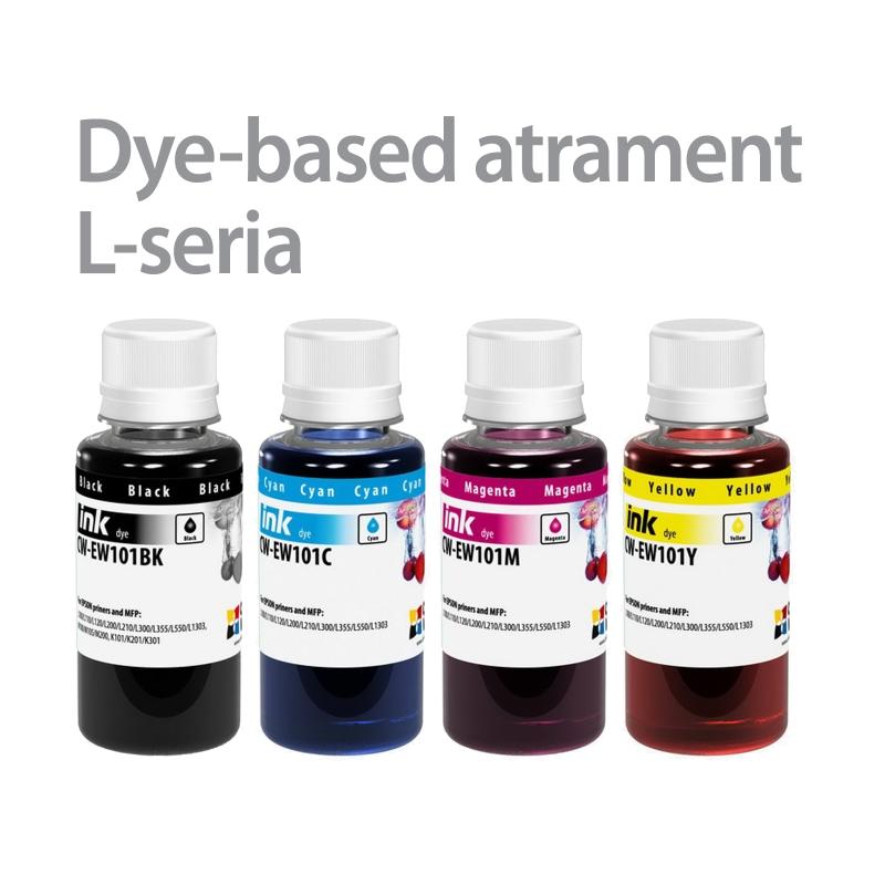 ColorWay Atrament EPSON 4x100ml - L-séria (L100/L200)