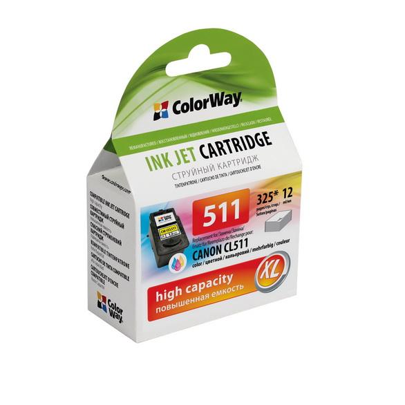 ColorWay Canon CL-511 XL color - kompatibilný