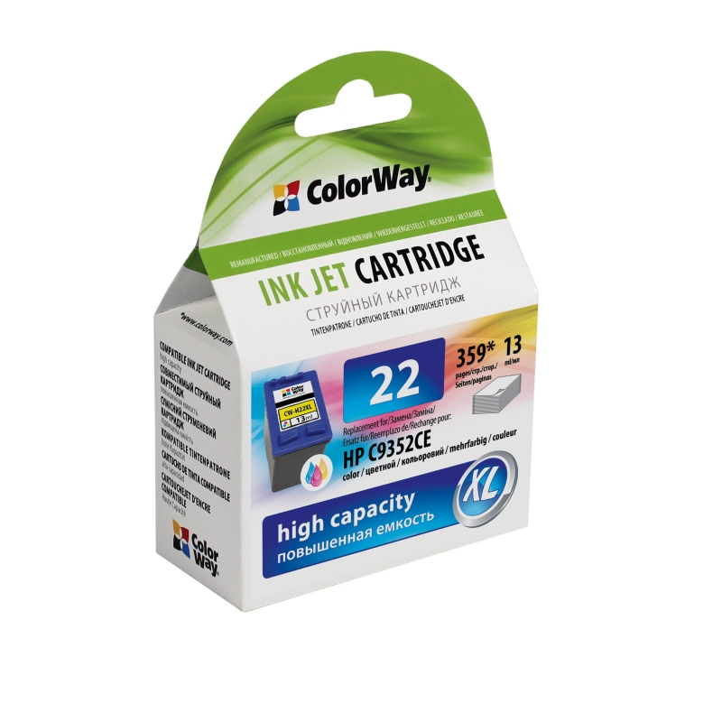 ColorWay HP 22XL (C9352A) color - kompatibilný