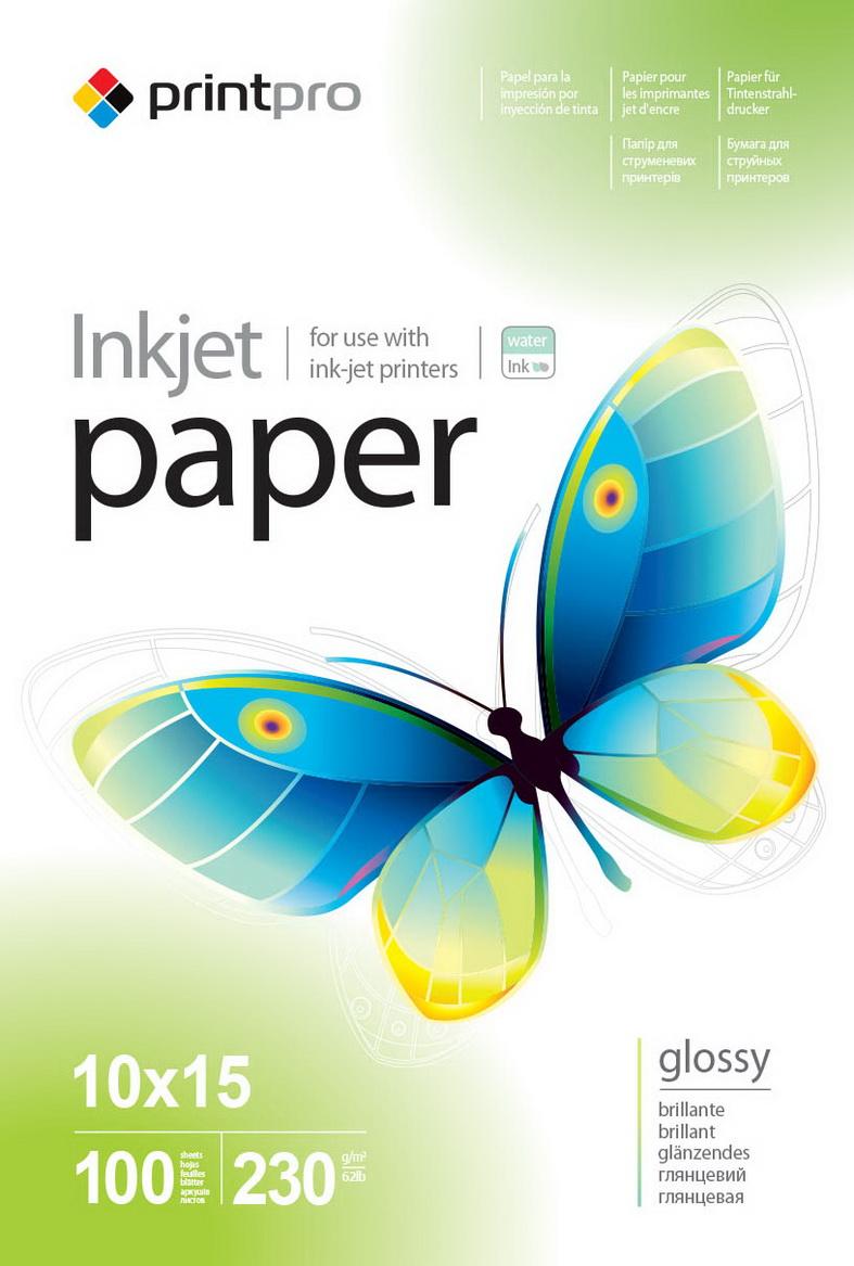 PrintPro Fotopapier PP Vysoko lesklý 230g/m²,100ks,10x15
