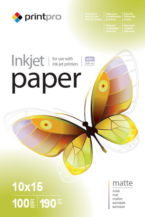 PrintPro Fotopapier PP matný 190g/m²,100ks,10x15