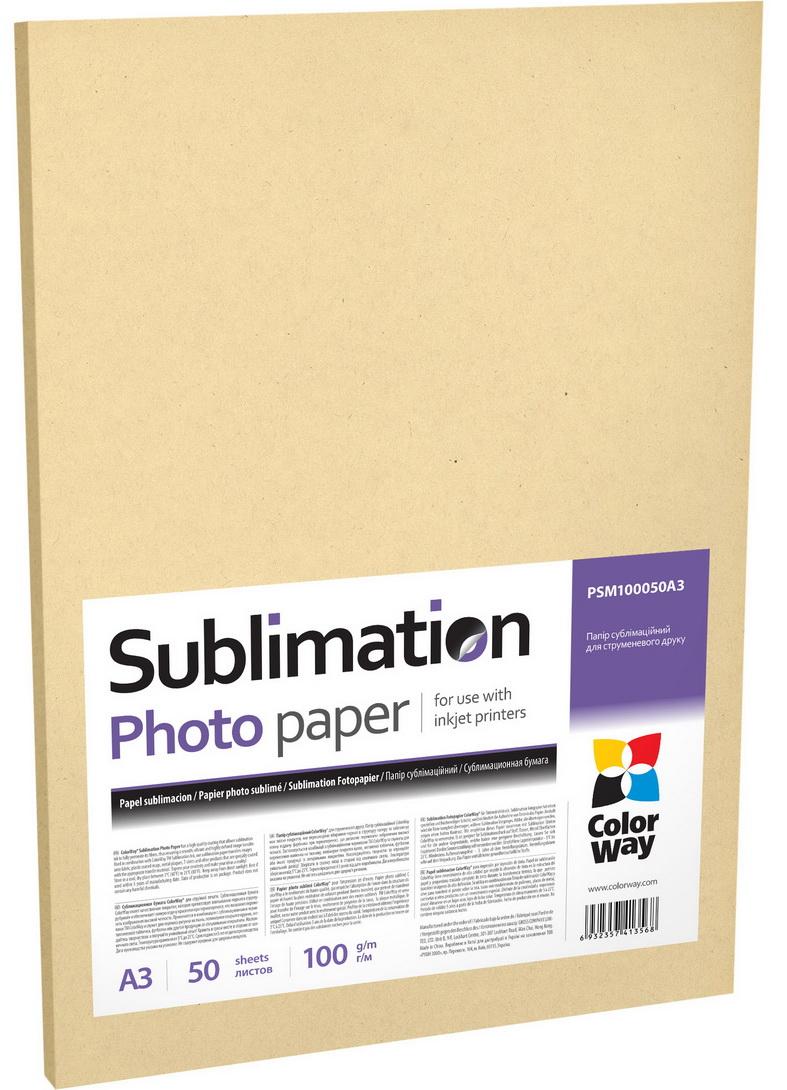 ColorWay Fotopapier CW sublimačný 100g/m², 50ks, A3