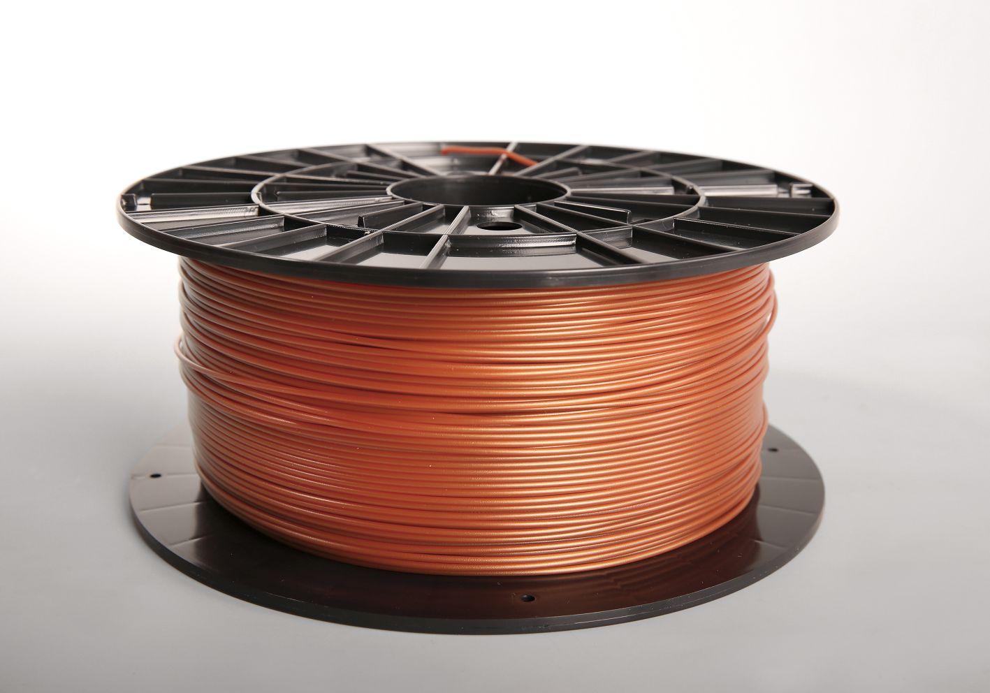 Filament-PM Tlačová struna PLA 1.75mm, 1kg - rôzne farby Farba: Medená