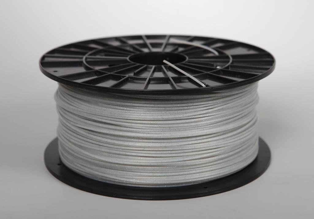 Filament-PM Tlačová struna PLA 1.75mm, 1kg - rôzne farby Farba: Perlová biela s flitrami