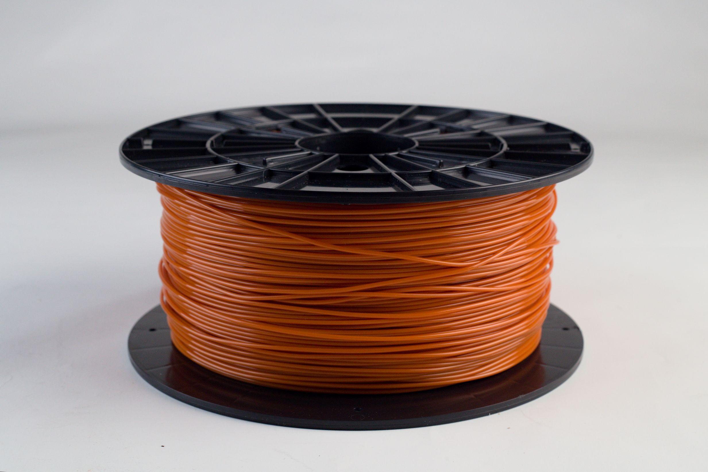 Filament-PM Tlačová struna PLA 1.75mm, 1kg - rôzne farby Farba: Oranžovohnedá