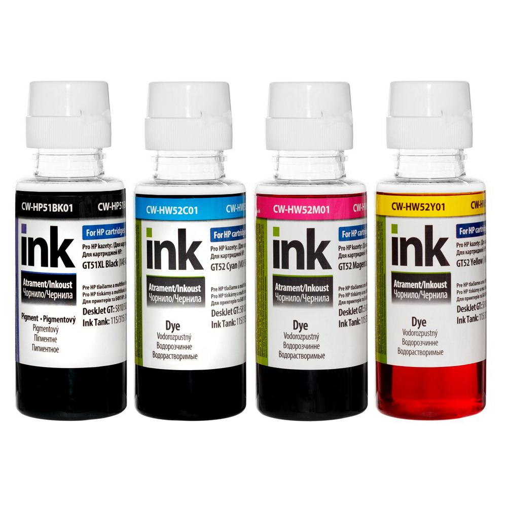 ColorWay Atrament HP Ink Tank GT51 / GT52 4x100ml - kompatibilný