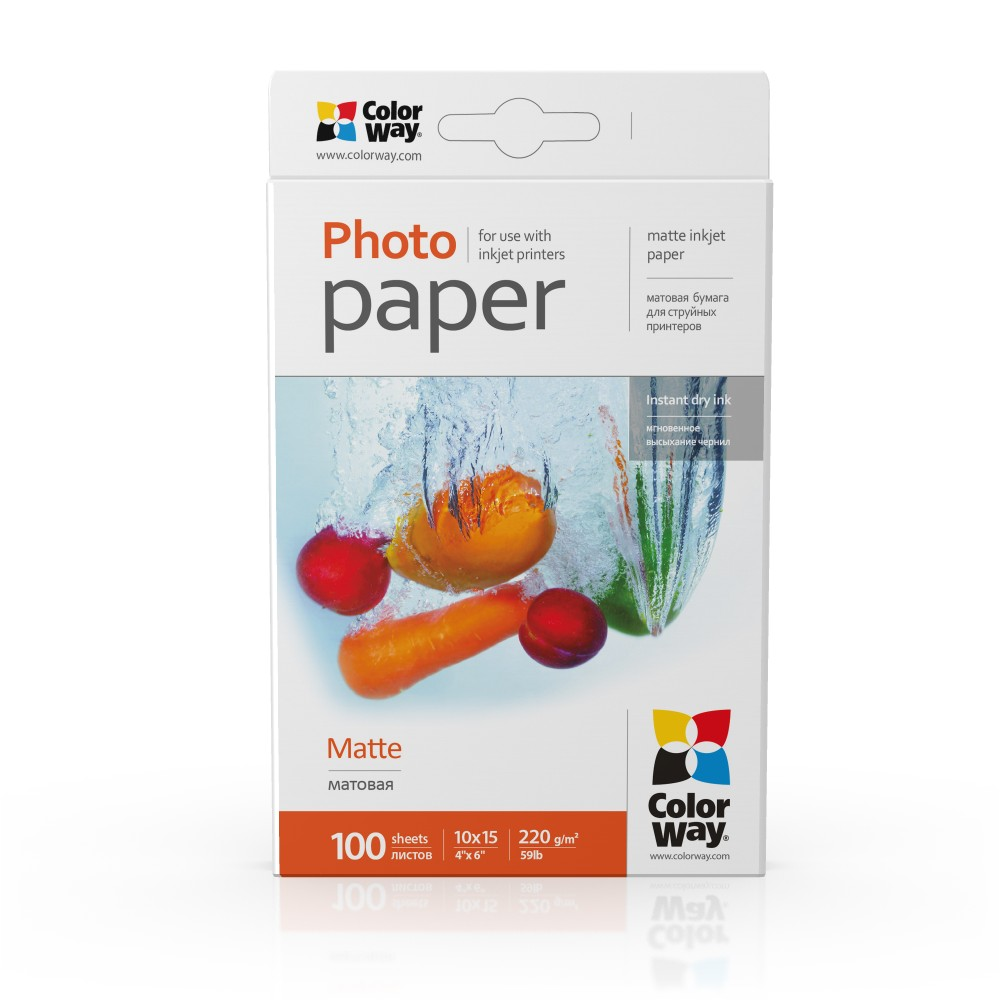 ColorWay Fotopapier CW Matný 220g/m²,100ks,10×15