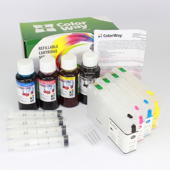 ColorWay Plniteľné kazety CW Epson WP5110/5690 (T7911-T7914) bez atramentov