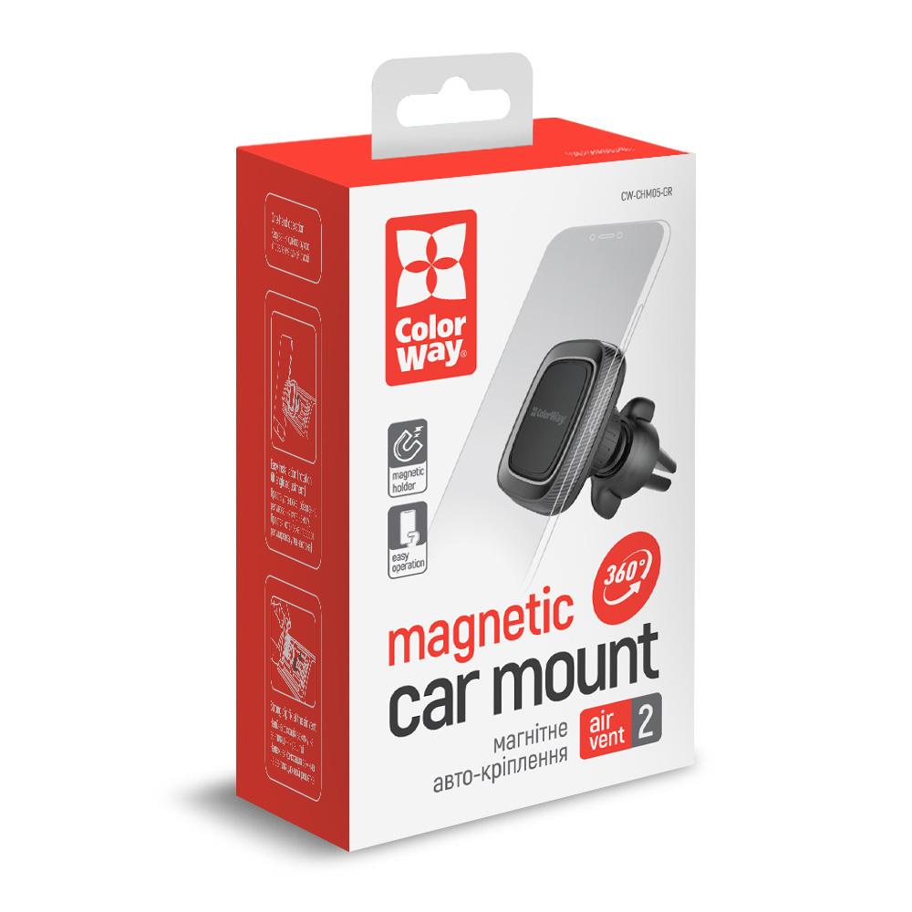 Držiak do auta ColorWay magnetický Air Vent-2 (360° rotácia) - šedý