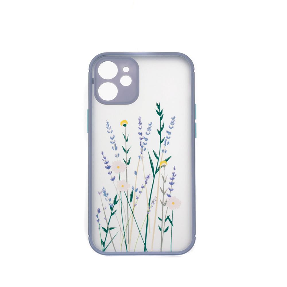 Puzdro ColorWay Smart Matné pre Apple iPhone 12 mini -  Flowers - fialové