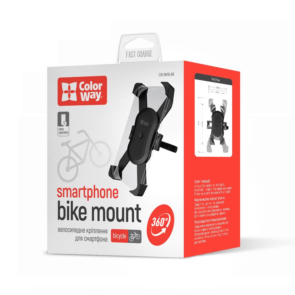 Držiak smartfónu ColorWay na bicykel - čierny