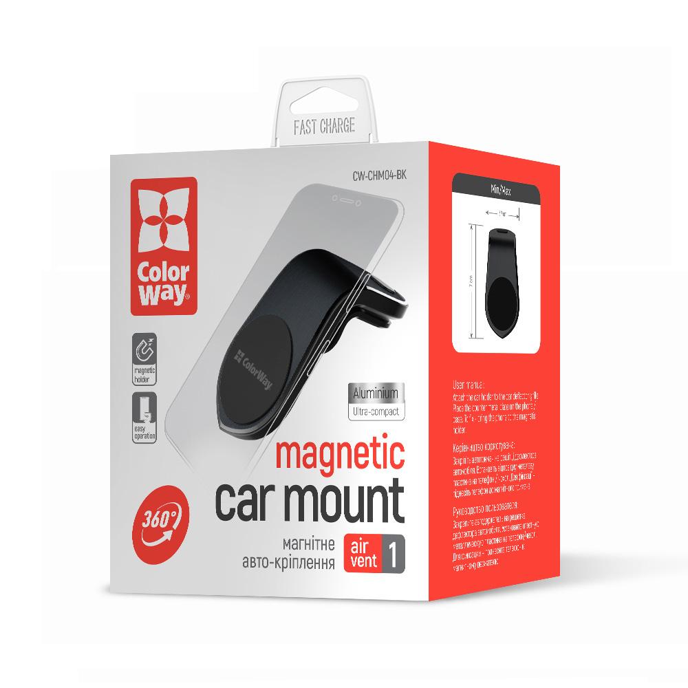 Držiak do auta ColorWay magnetický Air Vent-1 - čierny